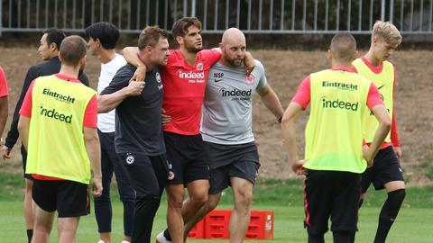 Goncalo Paciencia verletzt sich im Eintracht-Training