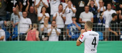 Ante Rebic beim Pokalspiel in Mannheim
