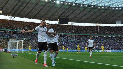 Ante Rebic bejubelt sein Tor im Pokalfinale