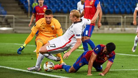 Rode im Basel-Spiel in einem Zweikampf