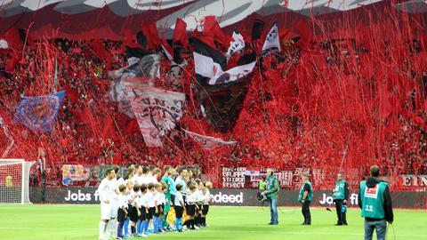Eintracht-Spieler und -Fans