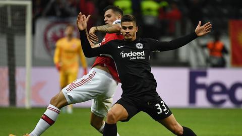 Silva während des Spiels gegen Arsenal