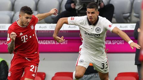 Andre Silva von Eintracht Frankfurt im Spiel gegen den FC Bayern