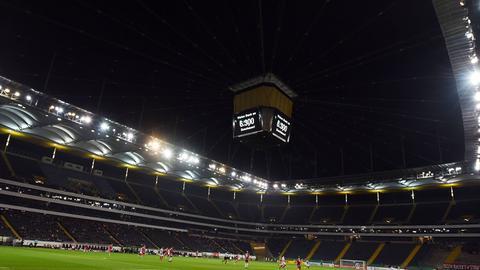 Der Videowürfel in der Commerzbank-Arena
