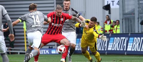 Daniel Kyereh im Spiel gegen Zwickau