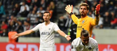 Frust bei Kevin Trapp von Eintracht Frankfurt