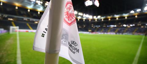 UEFA Logo Fahne Eintracht Frankfurt