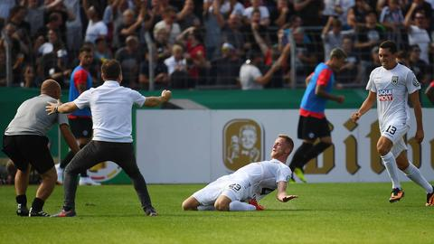 Ulm bejubelt den Sieg über die Eintracht