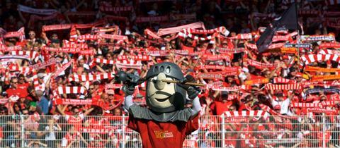 Das Maskottchen von Union Berlin