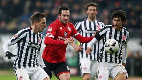 Die Eintracht im Duell mit Mainz