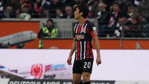 Eintracht-Profi Makoto Hasebe im Spiel gegen Wolfsburg