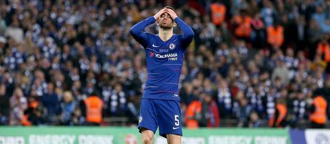 Jorginho soll mit dem FC Chelsea auch am Abend in Frankfurt nichts zu lachen haben.