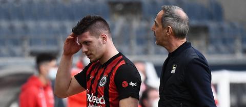 Luka Jovic wird von Adi Hütter ausgewechselt.