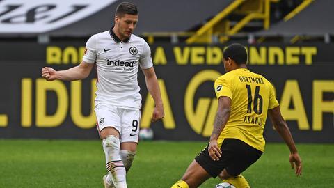 Luka Jovic von Eintracht Frankfurt im Spiel gegen den BVB