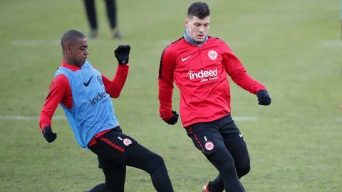 Gelson Fernandes (li.) und Luka Jovic