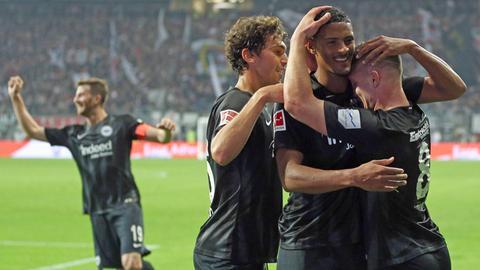 Eintracht-Jubel