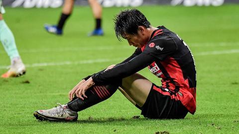 Daichi Kamada von Eintracht Frankfurt nach dem Spiel gegen Bremen