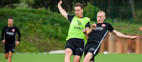 Dominik Kohr und Sebastian Rode von Eintracht Frankfurt