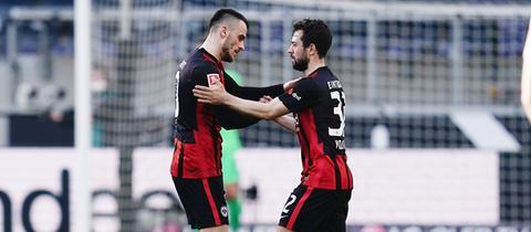 Filip Kostic und Amin Younes