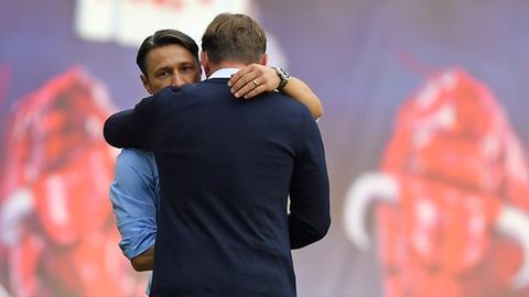 Kovac und Hasenhüttl umarmen sich