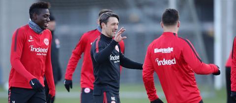 Kovac im Training