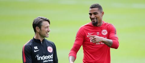 Kovac und Boateng beim Training