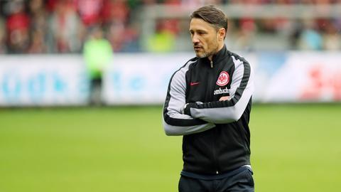 Eintracht-Trainer Niko Kovac zeigt sich von den Lobeshymnen genervt.