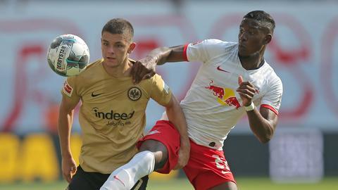 Szene aus Eintracht Frankfurt gegen RB Leipzig