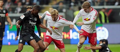 Eintracht Frankfurt gegen RB Leipzig.