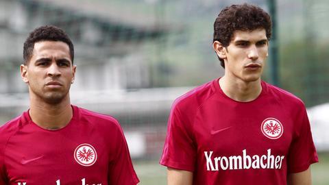 Die Eintracht-Profis Vallejo und Mascarell