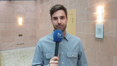 hr-Reporter Oliver Mayer