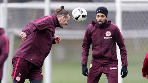 Alex Meier und Michael Hector im Eintracht-Training