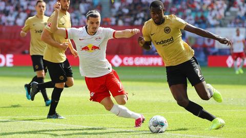Evan N'Dicka und die Teamkollegen brauchen gegen Marcel Sabitzer und Co. eine Topleistung.