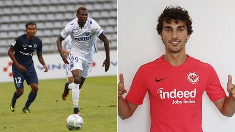 Die Eintracht-Neuzuänge Evan N'Dicka (links) und Lucas Torró (rechts)