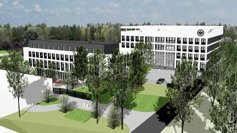 Entwurf der neuen Eintracht-Geschäftsstelle