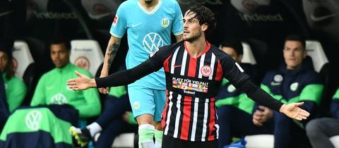 Goncalo Paciencia im Spiel gegen Wolfsburg