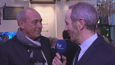 Eintracht Präsident Peter Fischer im Interview mit hr-Sportchef Ralf Scholt