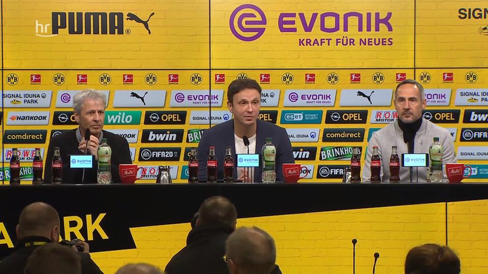 Video: Die Pressekonferenz nach Dortmund gegen Frankfurt ...