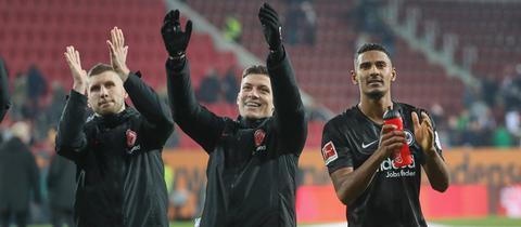 Ante Rebic, Luka Jovic und Sébastien Haller.