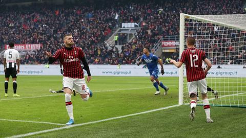 Ante Rebic hat mit einem Doppelpack beim AC Mailand überzeugt.