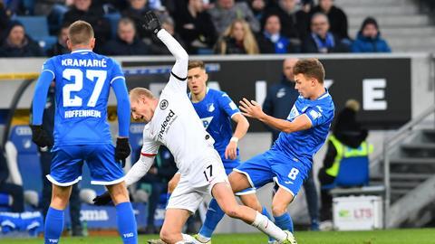 Sebastian Rode scheute in Hoffenheim keinen Kampf um den Ball.