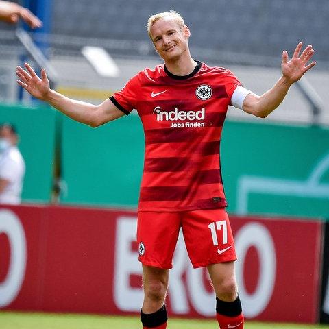 Sebastian Rode beim Spiel in Mannheim