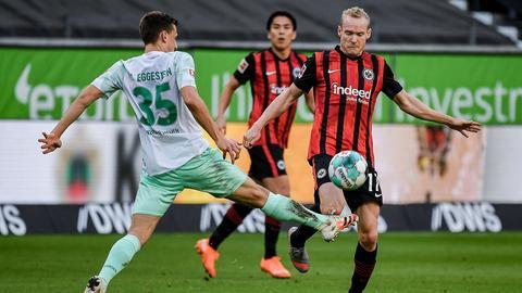 Sebastian Rode von Eintracht Frankfurt im Spiel gegen Werder Bremen