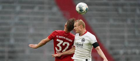 Sebastian Rode hat die Zweikämpfe gegen den FC Bayern München  gesucht.