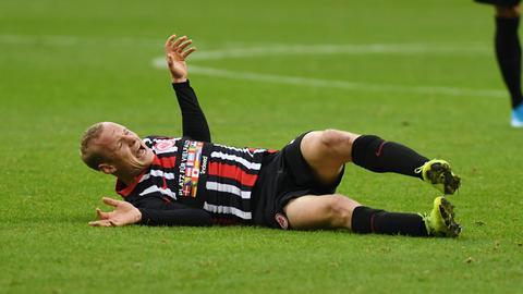 Sebastian Rode mit Schmerzen im Wolfsburg-Spiel