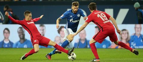 Szene Eintracht gegen Schalke