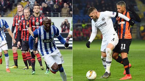 Collage Eintracht Porto Donezk