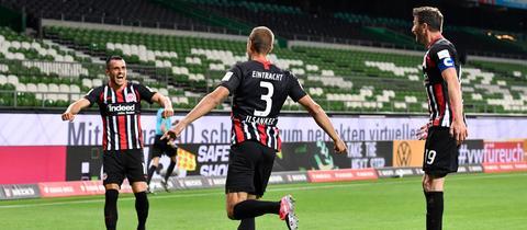 Eintracht Frankfurt Werder Bremen Jubel