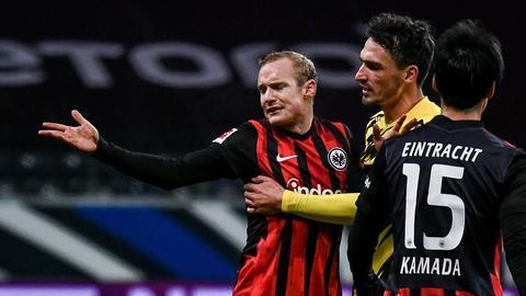Sebastian Rode von Eintracht Frankfurt im Spiel gegen Borussia Dortmund