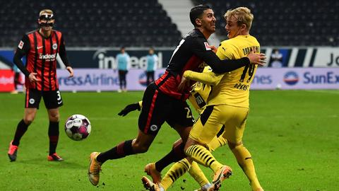 Aymen Barkok im Spiel von Eintracht Frankfurt gegen Borussia Dortmund